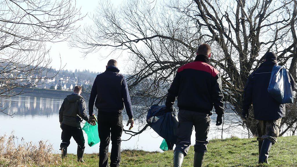 Sportfischer engagieren sich für die Umwelt – Unmut über weggeworfenen Müll